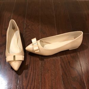 NEW Cole Haan size 6 nude leather flat shoes tan